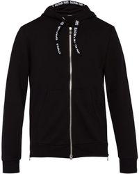Balmain - Sweat-shirt à capuche zippé en coton à logo - Lyst