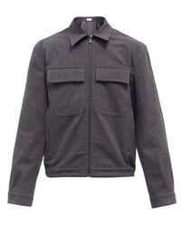 Raey Textured Cotton-twill Bomber Jacket - Grey