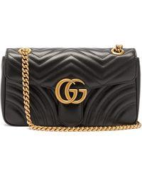 Gucci - GG Marmont Mini Leather Cross-body Bag - Lyst