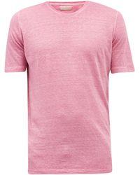 120% Lino 120% Lino リネンtシャツ - ピンク