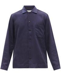 CDLP Haut de pyjama en sergé Home Suit - Bleu