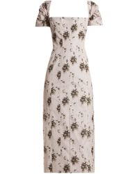 Brock Collection - Odilia Floral Print Panelled Midi Dress - Lyst