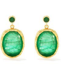 Jade Jagger Maiden Emerald & 18kt Gold Earrings - Green