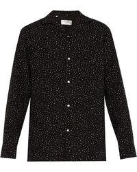 Officine Generale Dario Dot Print Shirt - Black