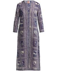 Le Sirenuse - Vanessa Postcard Print Dress - Lyst