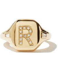 SHAY Bague en or rose et diamants Initial (R-Z) - Multicolore