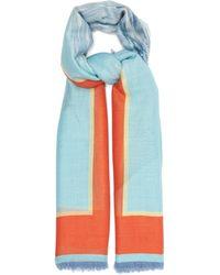 Givenchy Island-print Cashmere-blend Muslin Scarf - Blue