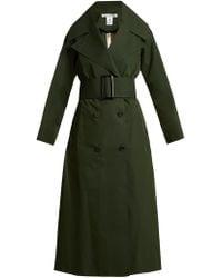 Oscar de la Renta | Over-sized Notch Lapel Cotton-blend Trench Coat | Lyst
