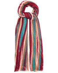 Missoni Striped Cashmere Scarf - Pink