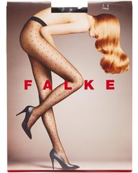 Falke Polka Dot 15 Denier Tights - Black