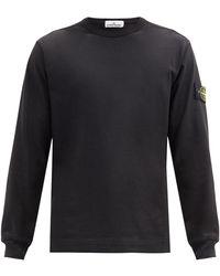 Stone Island コットンスウェットシャツ - ブラック