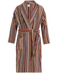 Paul Smith Cotton Towelling Signature Stripe Robe - Multicolour