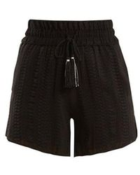 Zeus+Dione - Paxi Geometric-jacquard Silk-blend Shorts - Lyst