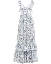 Agua by Agua Bendita Cereza Ruffled Floral-print Cotton Maxi Dress - Multicolour