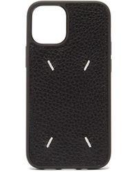 Maison Margiela Iphone 12 Mini レザーケース - ブラック