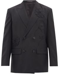 Valentino ウールブレンドクレープ ダブルスーツジャケット - マルチカラー