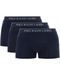 Polo Ralph Lauren ロゴジャカード コットン ボクサーブリーフ X3 - ブルー