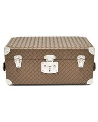 Bottega Veneta Intrecciato Leather Jewellery Travel Case - Natural