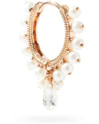 Maria Tash Créole en or rose, diamants et perles