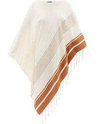 Su Paris Syakati Fringed Striped Cotton Kaftan - Multicolour