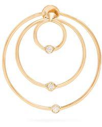 Delfina Delettrez - - Diamond & Yellow Gold Hoop Single Earring - Womens - Gold - Lyst
