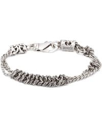 Emanuele Bicocchi Knotted Chain Sterling Silver Bracelet