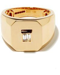 SHAY Chevalière en or 18 carats et diamants - Métallisé