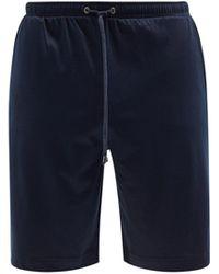 Zimmerli ドローストリング パジャマショートパンツ - ブルー