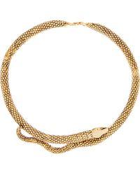 Aurelie Bidermann Tao Gold-plated Snake Necklace - Metallic
