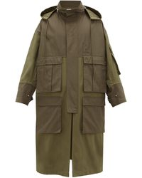 Loewe Cotton-canvas Hooded Parka - Green