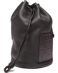 Loewe Sailor Large Anagram-embossed Leather Bucket Bag - Black