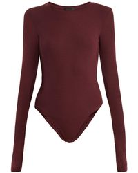 ATM - Long-sleeved Ribbed-jersey Body - Lyst