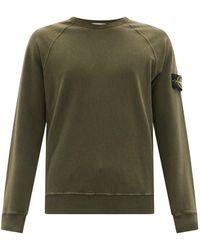 Stone Island Sweat-shirt en jersey de coton Malfile - Vert