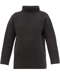 Jacquemus Agde Roll-neck Wool-blend Sweater - Gray