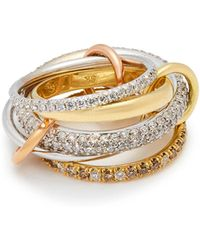 Spinelli Kilcollin - Venus 18kt Gold And Diamond Ring - Lyst