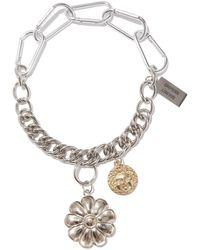 Chopova Lowena Flower-charm Stainless Steel Necklace - Metallic
