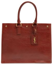 Saint Laurent - Noe East West Grained-leather Tote - Lyst