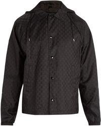 Gucci - Veste coupe-vent à capuche et imprimé logo - Lyst