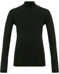 WARDROBE.NYC Release 05 Roll-neck Ribbed Merino-wool Sweater - Black