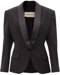 Alexandre Vauthier グレインドプードル ウールジャケット - ブラック