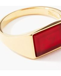 Miansai Lennox Agate & 14kt Gold-vermeil Ring - Metallic