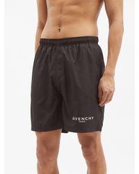 Givenchy ロゴ ボードショートパンツ - ブラック
