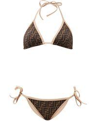 Fendi Bikini à nouer à imprimé FF - Neutre
