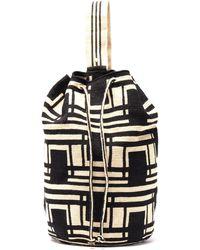 Guanabana Tula Geometric-woven Backpack - Black