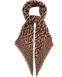 Gucci - Gg Rhombus-print Wool Scarf - Lyst