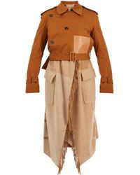 Loewe - Layered Double-breasted Trench Coat - Lyst