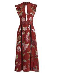 Burberry Prorsum - Floral Fil Coupé Silk Crepe De Chine Gown - Lyst