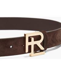 Ralph Lauren Purple Label ロゴプレート スエードベルト - マルチカラー