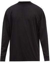 The Row Drago Cotton-jersey Long-sleeved T-shirt - Black
