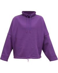 Martine Rose Batwing-sleeve Oversized Sweatshirt - Purple